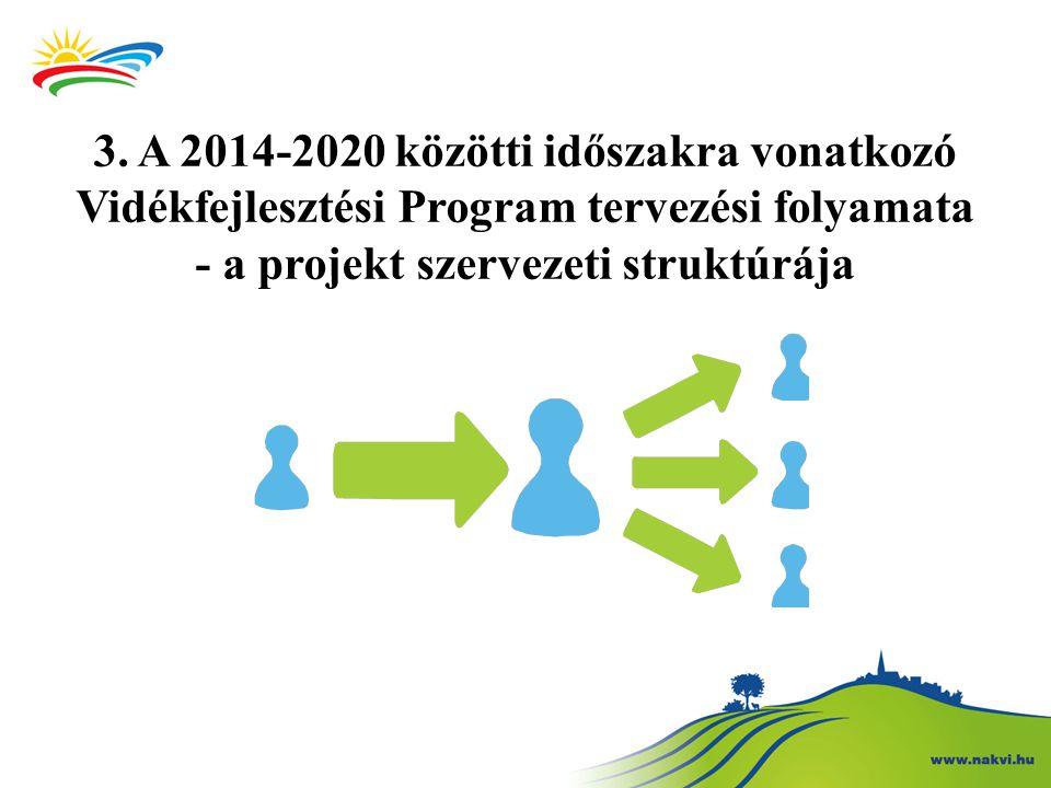 3. A 2014-2020 közötti időszakra vonatkozó Vidékfejlesztési Program tervezési folyamata - a projekt szervezeti struktúrája