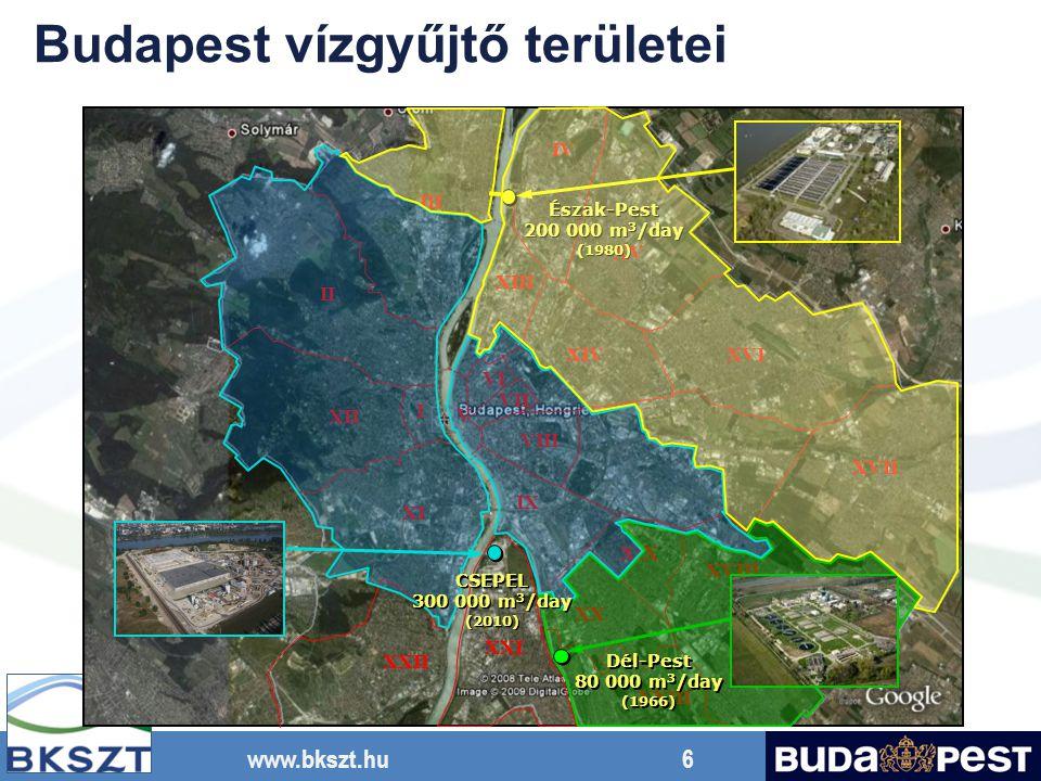 www.bkszt.hu 27 Hossz:61,2 m Szélesség:18,0 m Mélység: 5,3 m Fölösiszap elvétele Szifon Recirk.