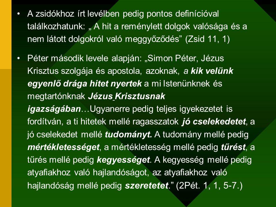 1.3.Mi az igaz hit. (21.