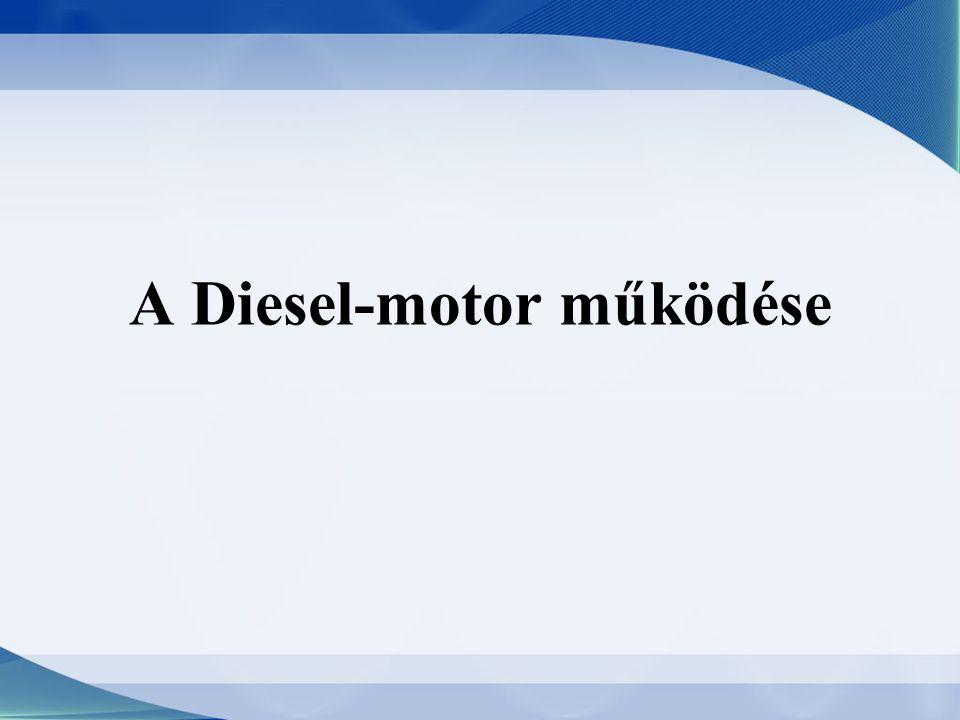 Bevezetés A dízelmotor belső égésű motor, amelynek működési elvét a német Rudolf Diesel szabadalmaztatta 1893.