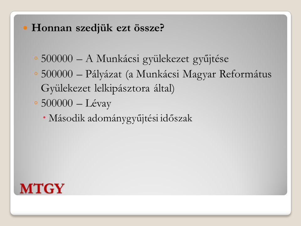 MTGY A Lévay gyűjtésének módszerei 1.Személyes adakozás.