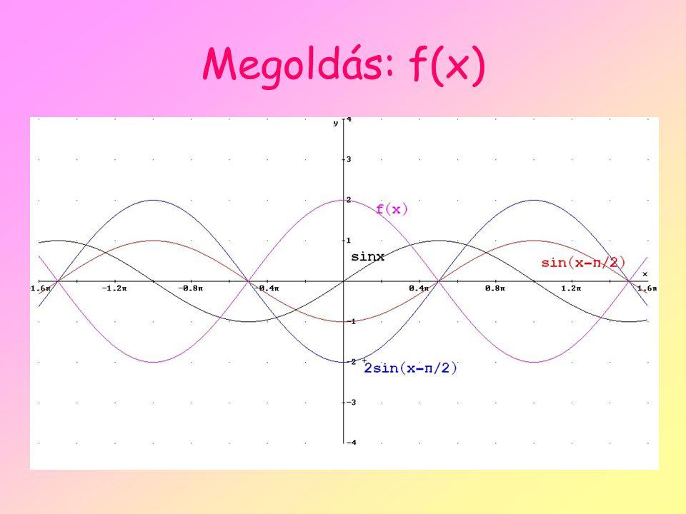 Megoldás: f(x)