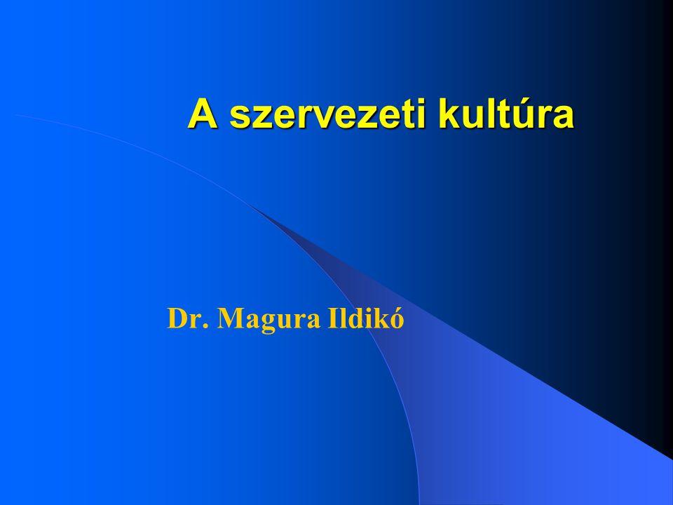A szervezeti kultúra Dr. Magura Ildikó