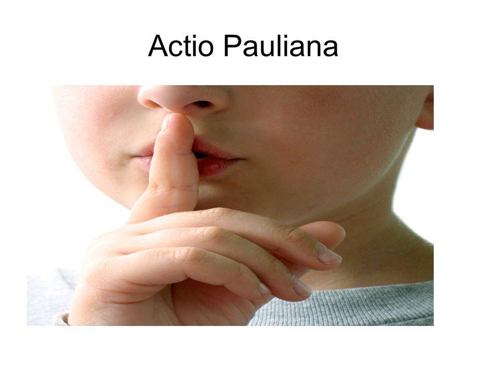 Actio Pauliana