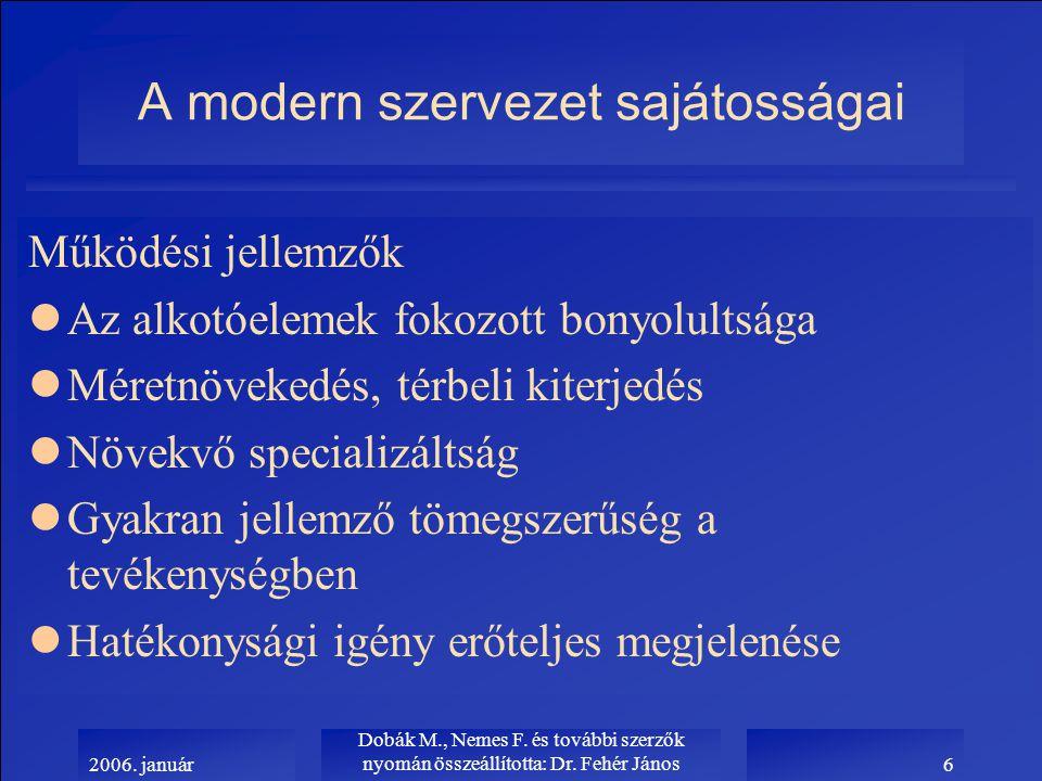2006.január Dobák M., Nemes F. és további szerzők nyomán összeállította: Dr.