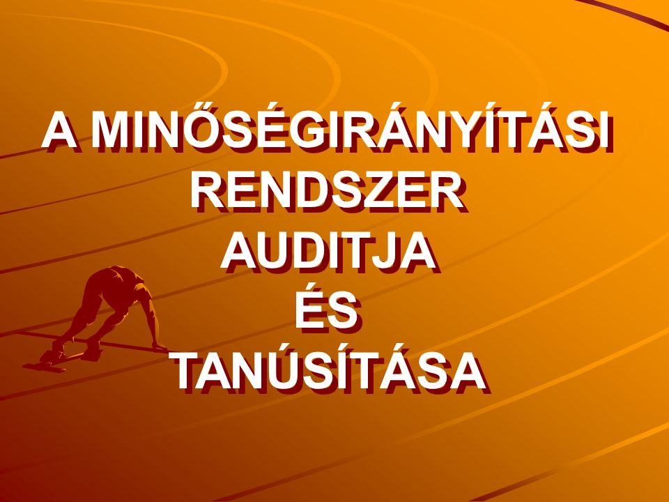 A tanúsító audit menete 1.