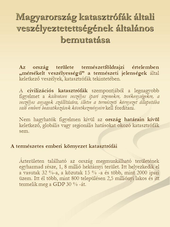Árvizek és belvizek Magyarország veszélyeztetettségét meghatározza, hogy a Kárpát- medence legmélyebb területén helyezkedik el.