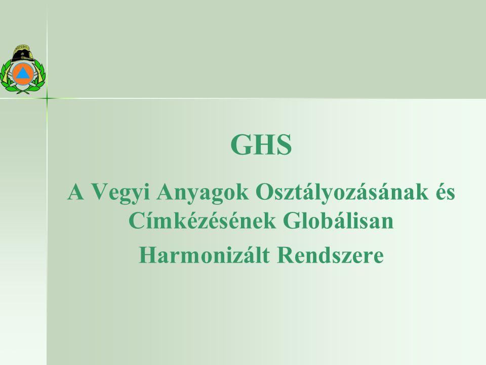 GHS A Vegyi Anyagok Osztályozásának és Címkézésének Globálisan Harmonizált Rendszere 22.10.2009