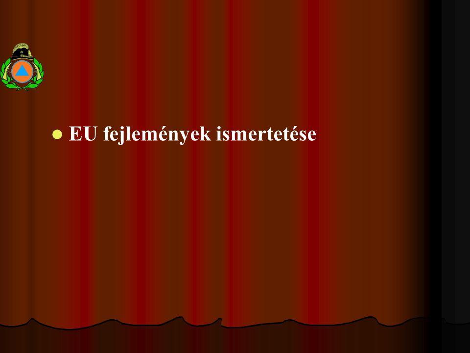 EU fejlemények ismertetése