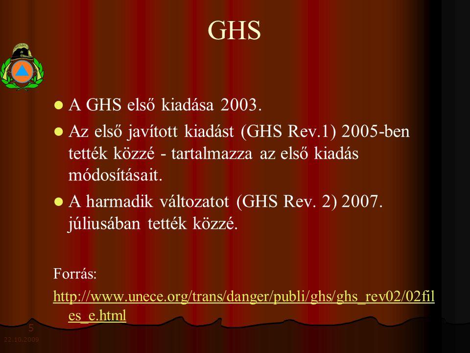 5 22.10.2009 GHS A GHS első kiadása 2003.