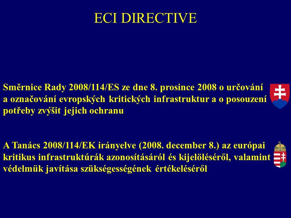 Směrnice Rady 2008/114/ES ze dne 8. prosince 2008 o určování a označování evropských kritických infrastruktur a o posouzení potřeby zvýšit jejich ochr