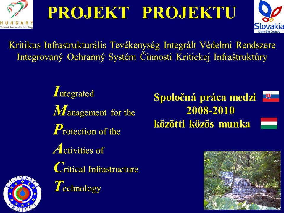 PROJEKT PROJEKTU Célja:  az ivóvíz megőrzése;  a lakosság egészséges ivóvízzel történő ellátása;  az ellátásbiztonsága érdekében tett erőfeszítések