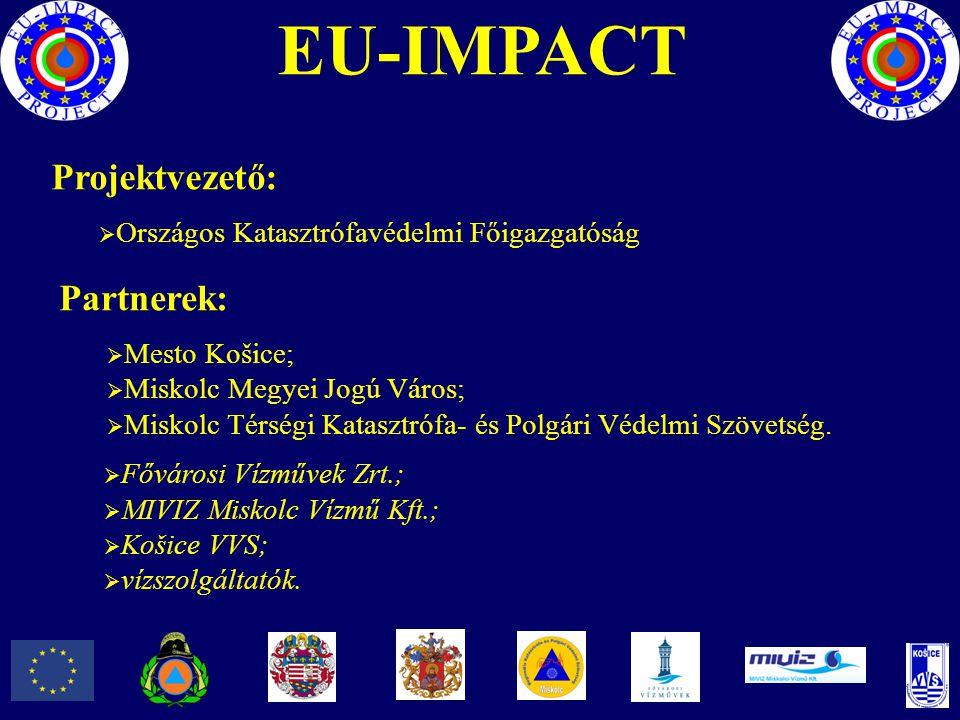 Partnerek:  Mesto Košice;  Miskolc Megyei Jogú Város;  Miskolc Térségi Katasztrófa- és Polgári Védelmi Szövetség. Projektvezető:  Országos Kataszt