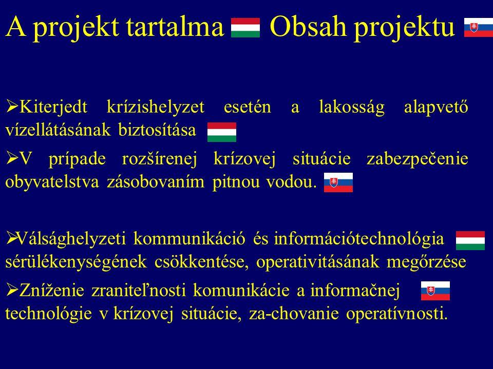  Válsághelyzeti kommunikáció és információtechnológia sérülékenységének csökkentése, operativitásának megőrzése  Zníženie zraniteľnosti komunikácie