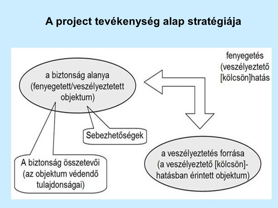 A project tevékenység alap stratégiája
