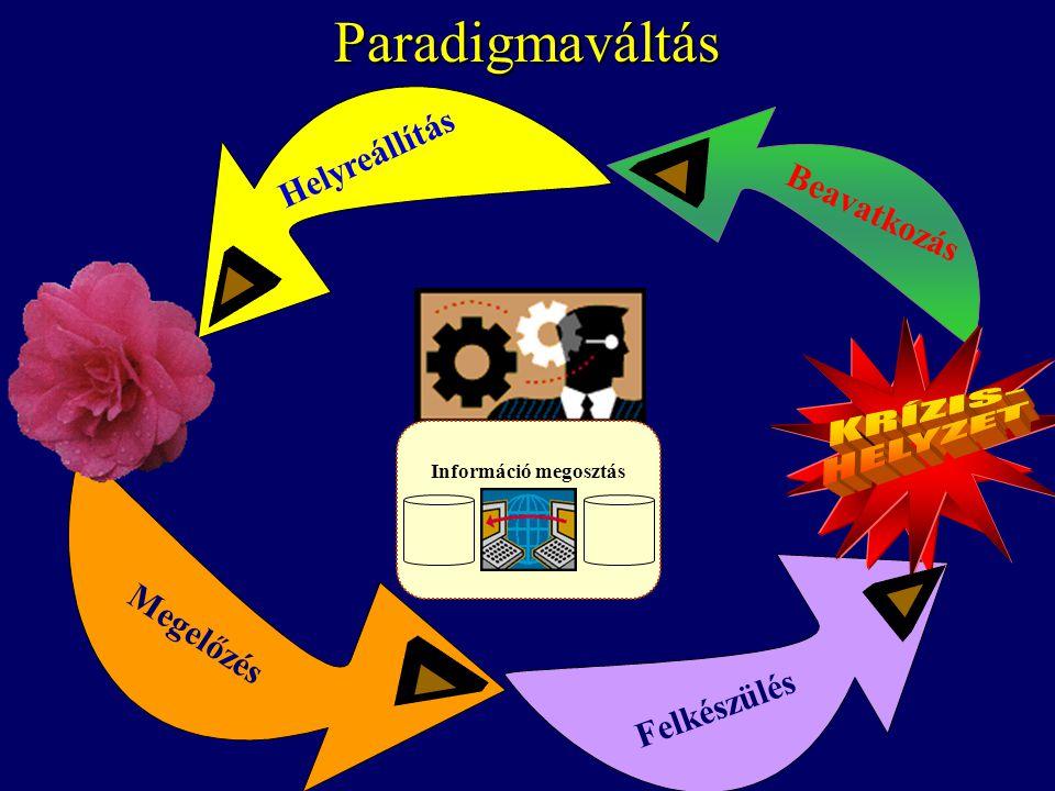 Paradigmaváltás Felkészülés Beavatkozás Helyreállítás Megelőzés Információ megosztás