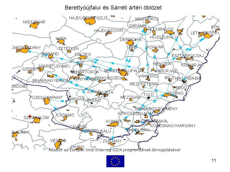 11 Készült az Európai Unió Interreg III/A programjának támogatásával Berettyóújfalui és Sárréti ártéri öblözet