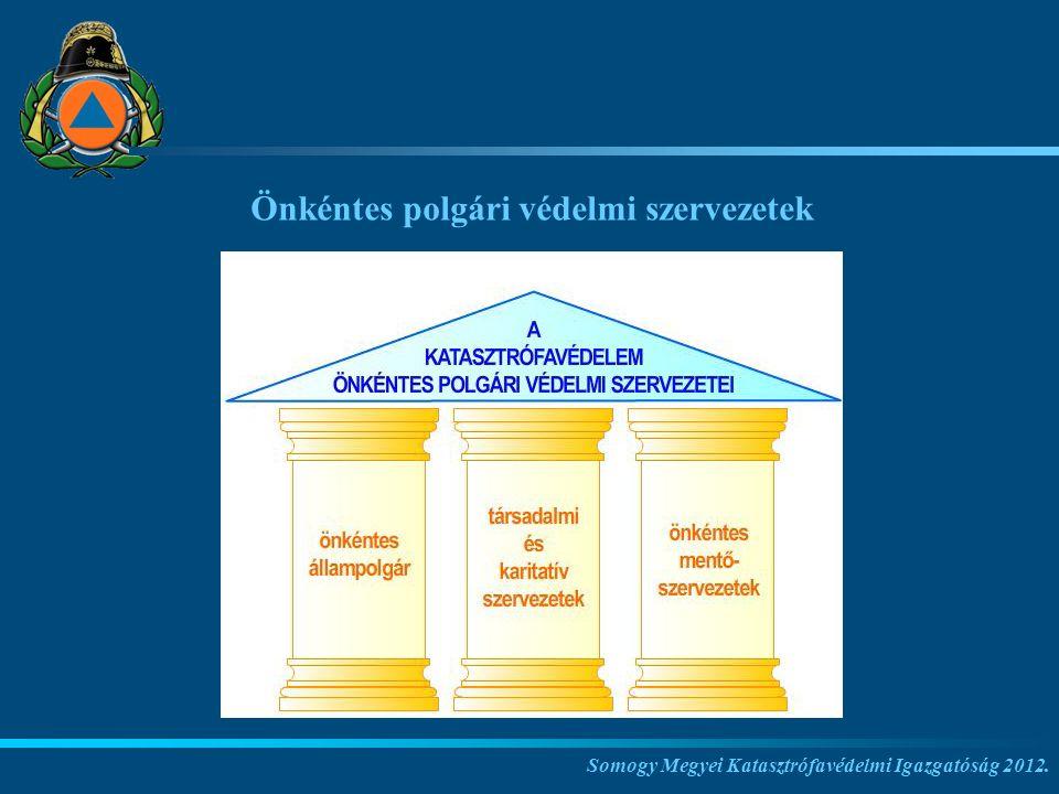 Somogy Megyei Katasztrófavédelmi Igazgatóság 2012. Önkéntes polgári védelmi szervezetek