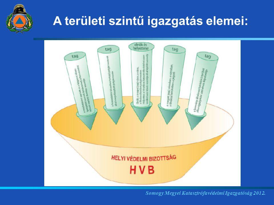 Somogy Megyei Katasztrófavédelmi Igazgatóság 2012. A területi szintű igazgatás elemei: