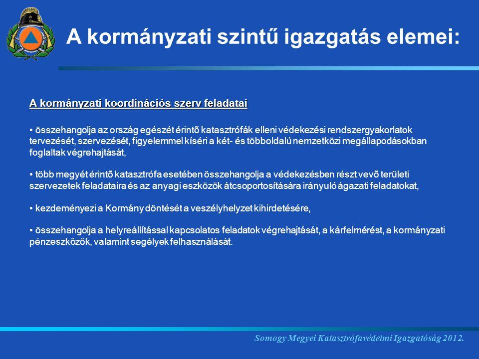 Somogy Megyei Katasztrófavédelmi Igazgatóság 2012.
