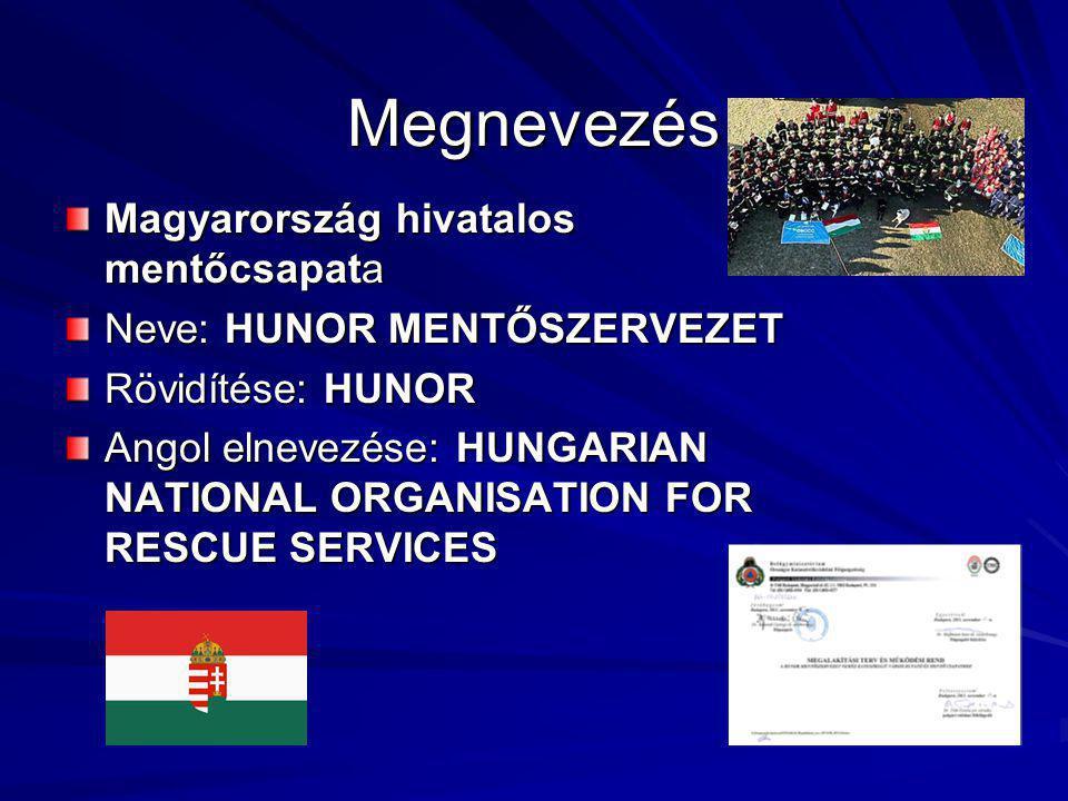 Megnevezés Magyarország hivatalos mentőcsapata Neve: HUNOR MENTŐSZERVEZET Rövidítése: HUNOR Angol elnevezése: HUNGARIAN NATIONAL ORGANISATION FOR RESCUE SERVICES