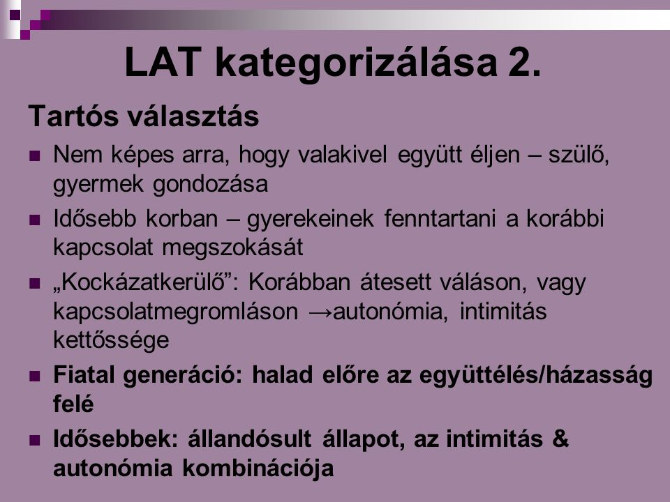 LAT kategorizálása 2.