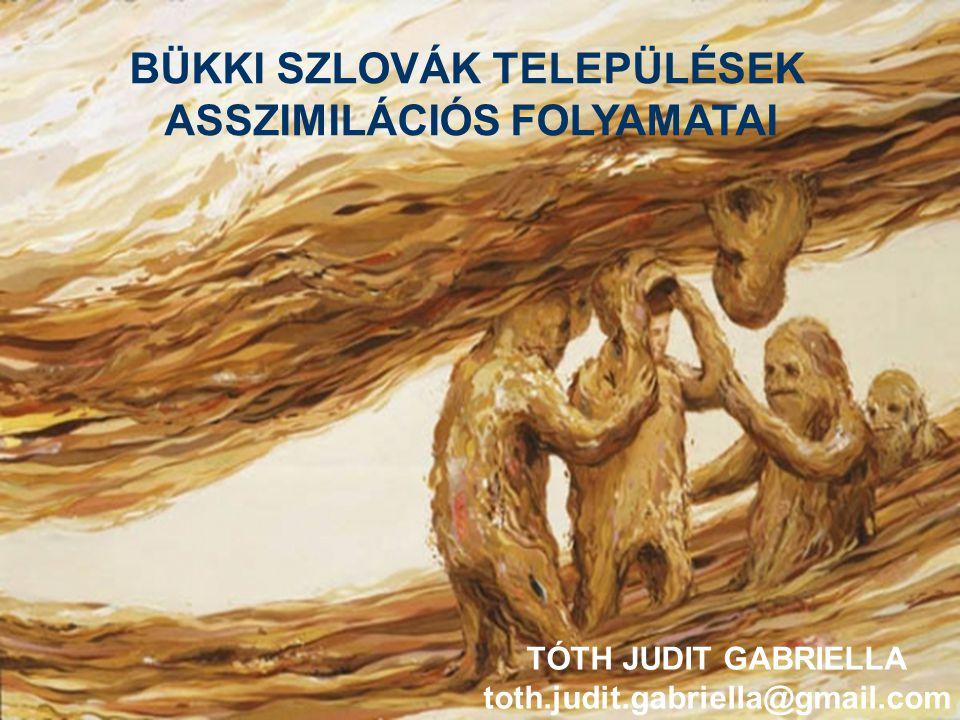 BÜKKI SZLOVÁK TELEPÜLÉSEK ASSZIMILÁCIÓS FOLYAMATAI TÓTH JUDIT GABRIELLA toth.judit.gabriella@gmail.com