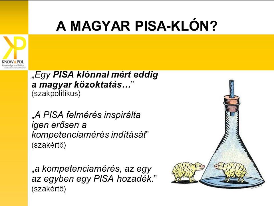 A MAGYAR PISA-KLÓN.