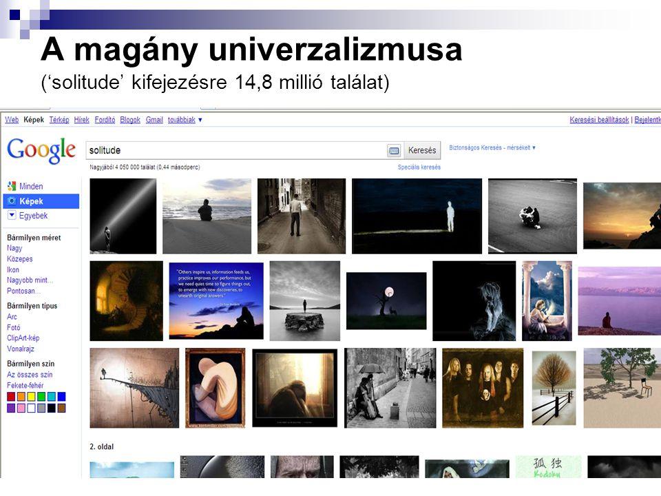 A magány univerzalizmusa ('solitude' kifejezésre 14,8 millió találat)