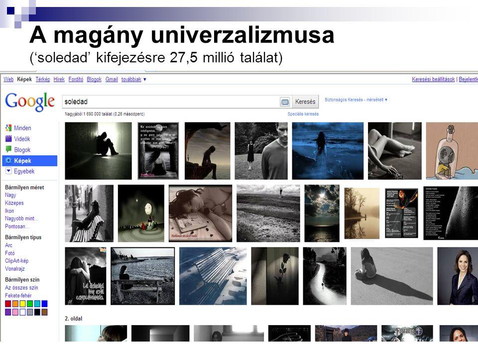 A magány univerzalizmusa ('soledad' kifejezésre 27,5 millió találat)