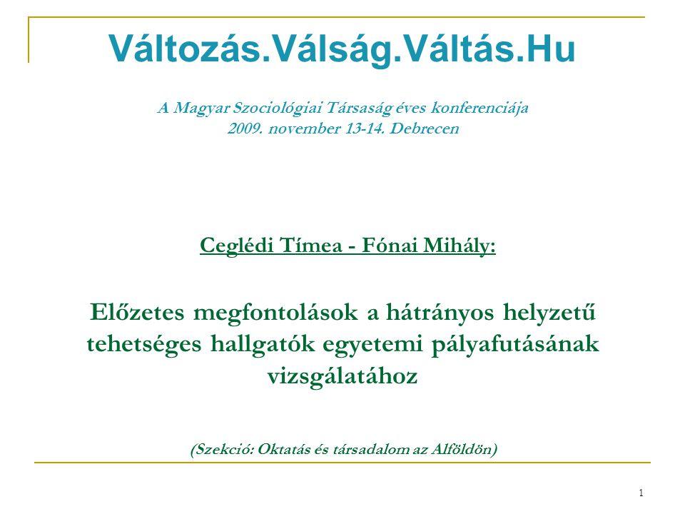 1 Változás.Válság.Váltás.Hu A Magyar Szociológiai Társaság éves konferenciája 2009.