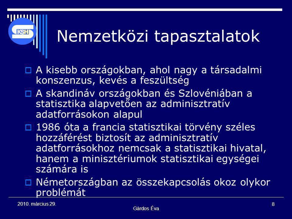 Gárdos Éva 19 2010.március 29. 1993. évi XLVI.