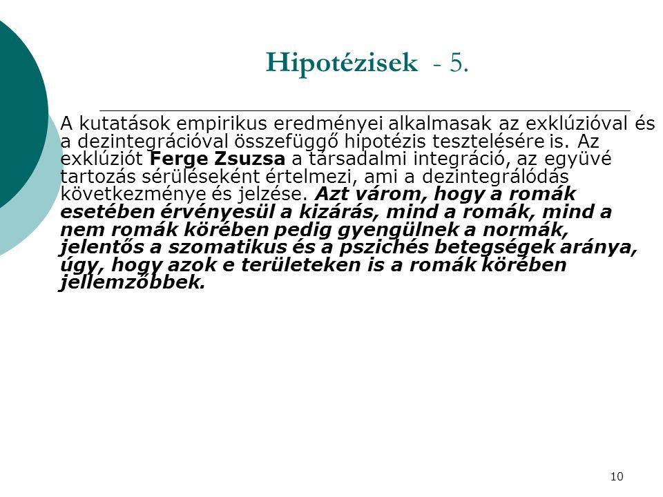10 Hipotézisek - 5.