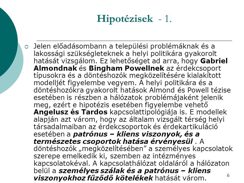 6 Hipotézisek - 1.