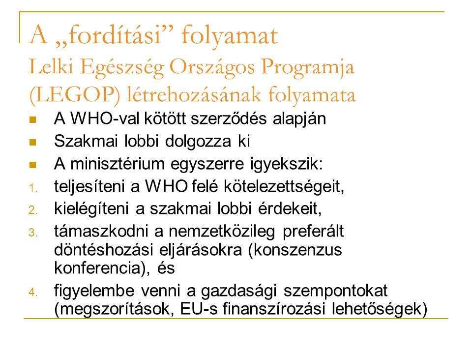 """Az europaizációs és domesztikációs folyamat eredménye: elveszett jelentés Az europaizációs folyamat összefonódik a domesztikációs folyamattal (Bugdahn [2005]): a nemzetközi paradigma átvételéből adódó előnyöket úgy kívánják a helyi aktorok élvezni, hogy a nemzeti (helyi) elvárásoknak, lehetőségeknek, érdekeknek megfelelően újraértelmezik, """"használhatóvá teszik az európai (illetve nemzetközi) kezdeményezést."""