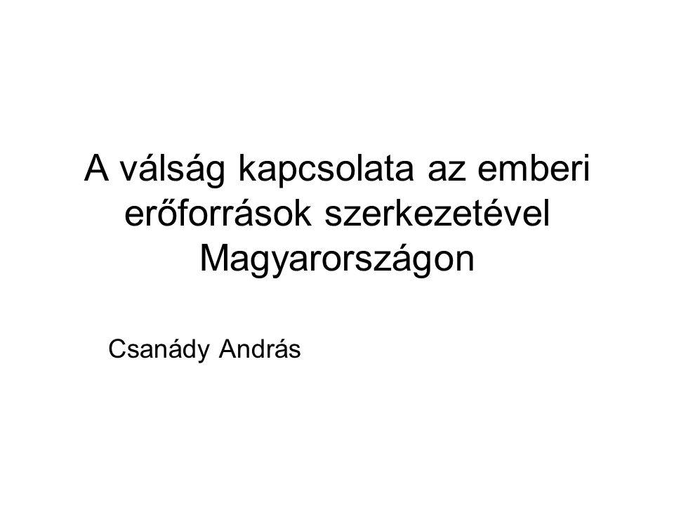 A válság kapcsolata az emberi erőforrások szerkezetével Magyarországon Csanády András