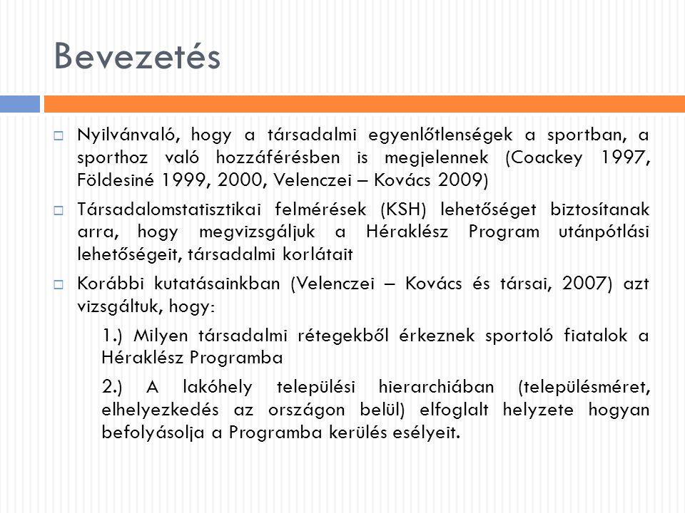 Bevezetés  Nyilvánvaló, hogy a társadalmi egyenlőtlenségek a sportban, a sporthoz való hozzáférésben is megjelennek (Coackey 1997, Földesiné 1999, 20