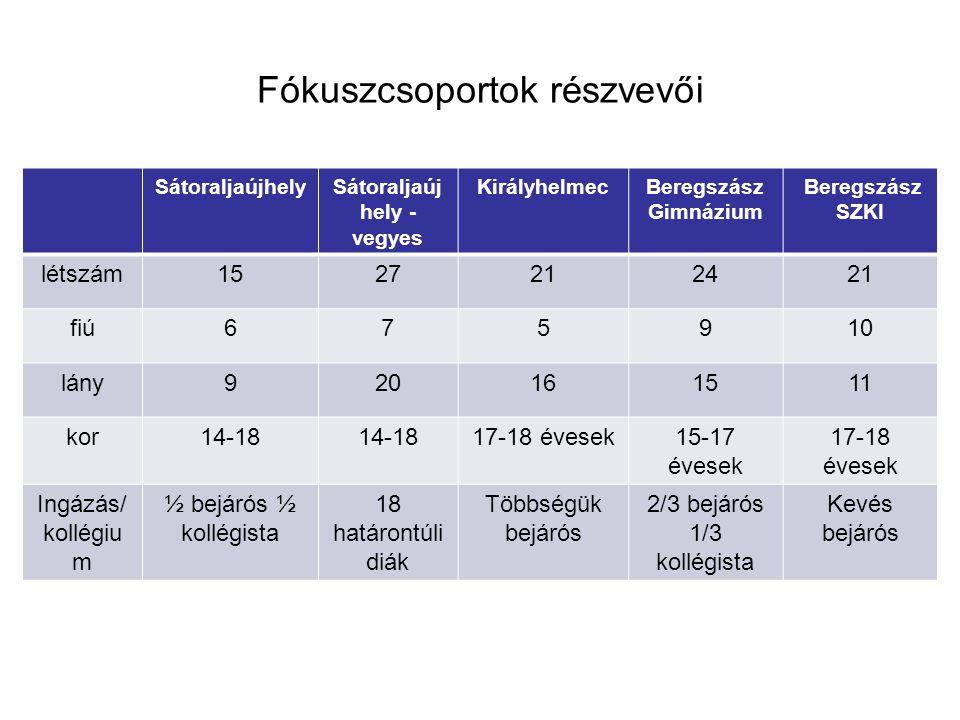 Kutatás eredményei 4 dimenzió mentén: Nyitott vagy zárt határ Identitás Boldogulás Nyelv