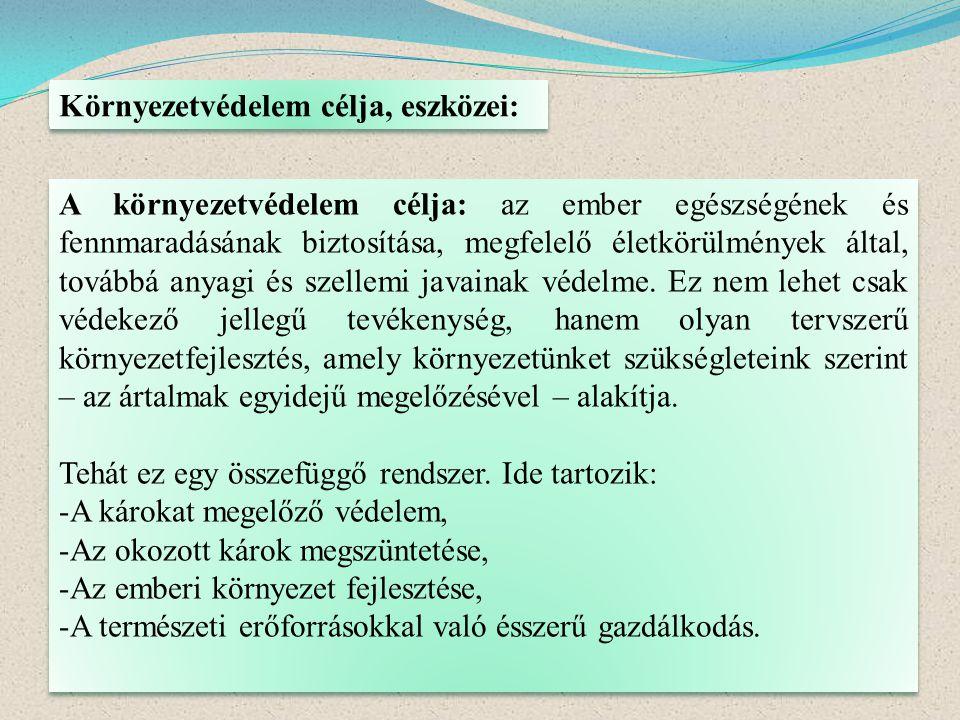 b./ Mikroszennyezők: -szervetlen, /vas, mangán, cink, különösen veszélyes a higany, ólom, a fémek toxikusságát fokozza a víz keménysége, egymást támogató, erősítő hatás,/ -szerves, /kőolaj származékok, kisebb mennyiségben is mérgezők/ -mosószerek, /szintetikus mosószerek a vizek habzását okozzák, káros anyagok/ -növényvédőszerek,/kemikáliák, táplálékláncba bejutnak, lassú a lebomlása,lassú a lebomlásuk/.