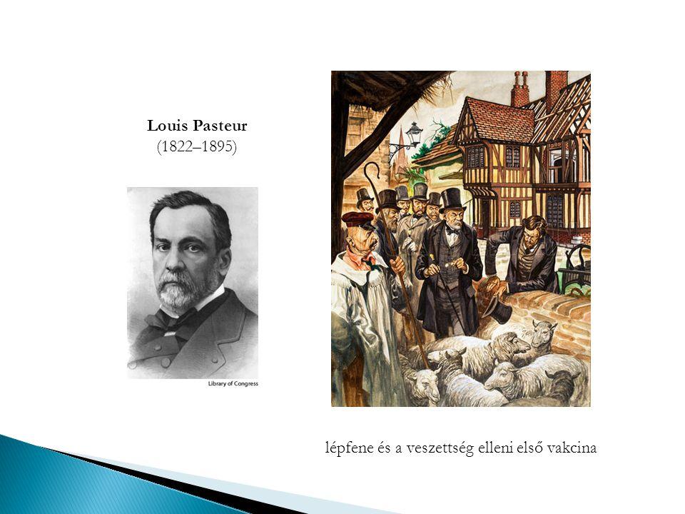 Louis Pasteur (1822–1895) lépfene és a veszettség elleni első vakcina