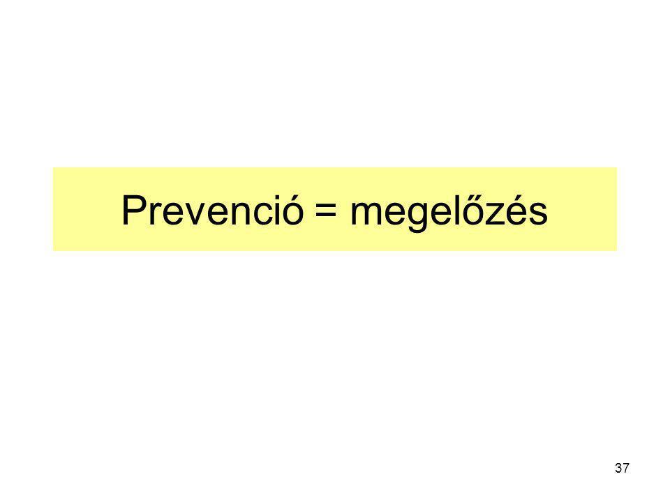 37 Prevenció = megelőzés