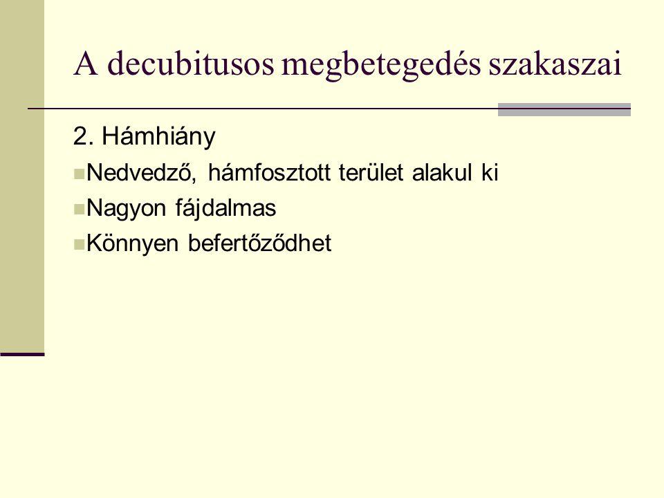 A decubitusos megbetegedés szakaszai 2.