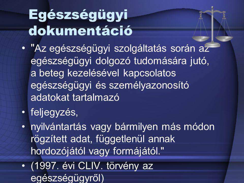 A beteg kötelezettségei d) tájékoztatást adni minden, az egészségügyi ellátást érintő, általa korábban tett jognyilatkozatáról (tájékoztatásról való lemondás, ellátás visszautasítása stb.), e) a gyógykezelésével kapcsolatban tőlük kapott rendelkezéseket betartani, f) a gyógyintézet házirendjét, működési rendjét betartani, g) az előírt térítési díjat megfizetni, h) előírt személyes adatait hitelt érdemlően igazolni.