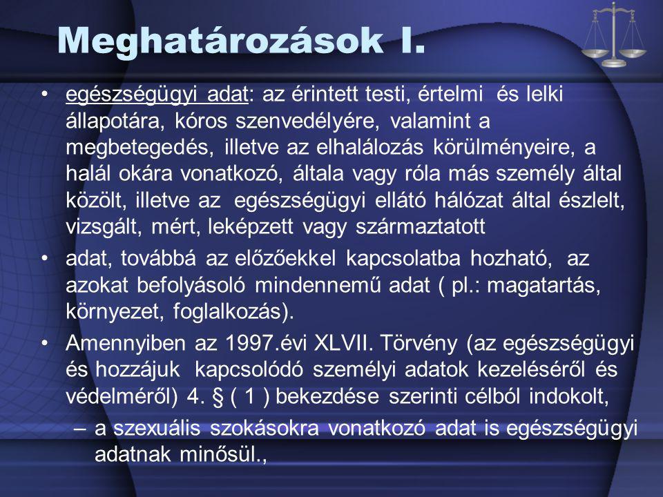 Meghatározások II.