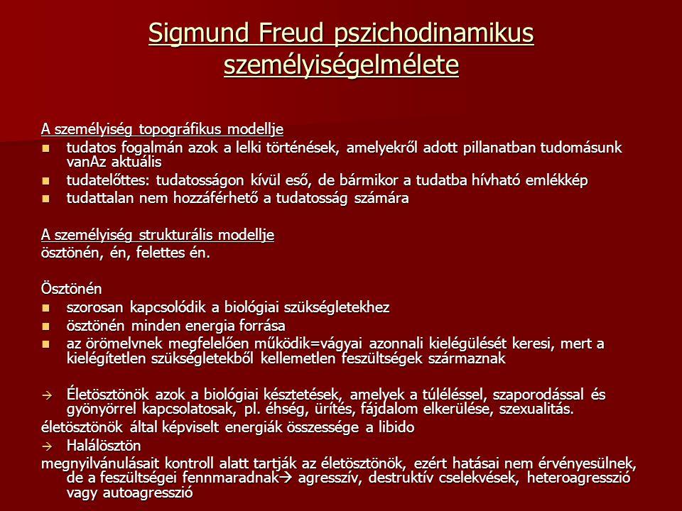 Sigmund Freud pszichodinamikus személyiségelmélete A személyiség topográfikus modellje tudatos fogalmán azok a lelki történések, amelyekről adott pill