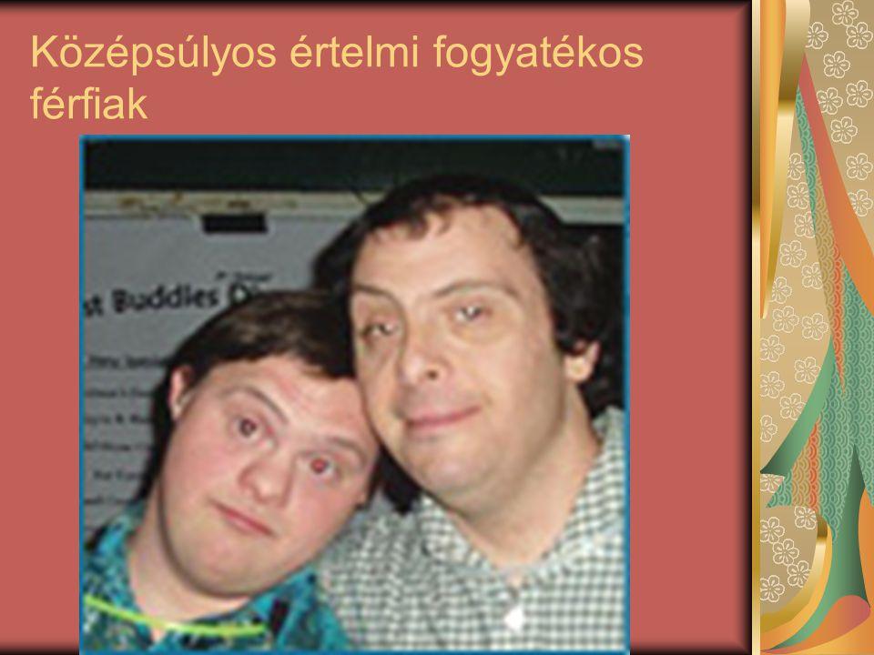 Középsúlyos értelmi fogyatékos férfiak