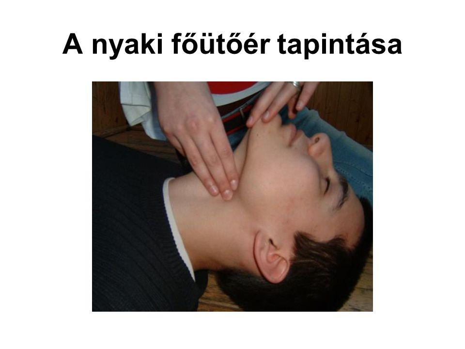 A nyaki főütőér tapintása