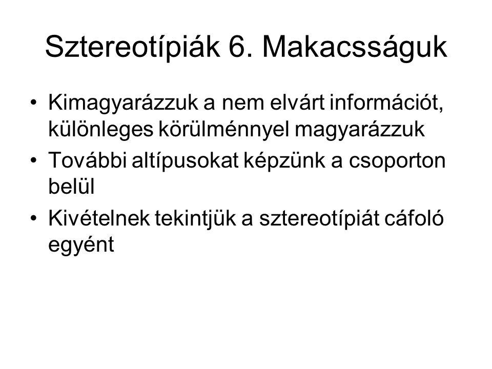 Sztereotípiák 6.