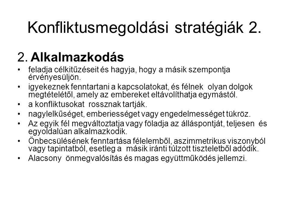Konfliktusmegoldási stratégiák 2.2.