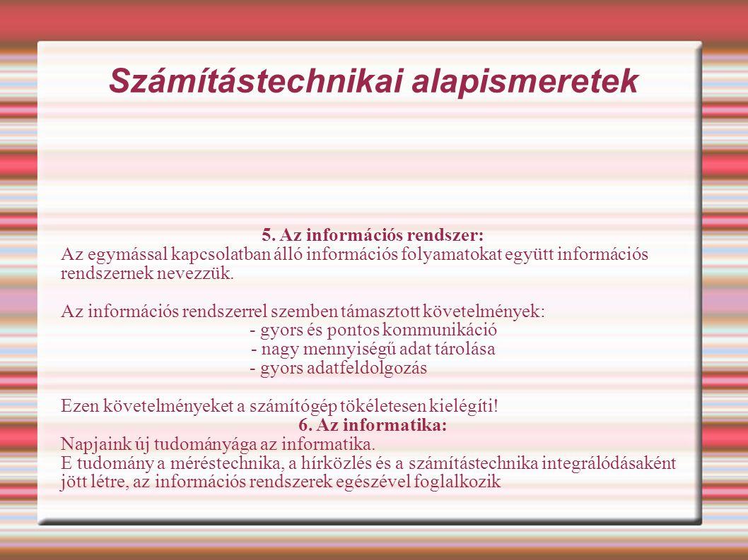 Számítástechnikai és informatikai ismeretek 2.A szoftverek csoportosítása: a).